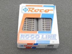 Roco 42512 6x Gerades Gleis G1/2 Roco Line Bettung H0 wie NEU OVP
