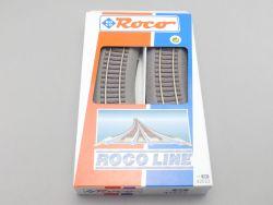 Roco 42522 6x Gebogenes Gleis R2 Roco Line Bettung wie NEU OVP ST