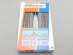 Roco 42523 6x Gebogenes Gleis R3 Roco Line Bettung TOP OVP