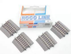 Roco 42509 4x Gebogenes Gleis R3 1/4 Roco Line Bettung NEU OVP
