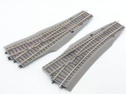 Roco 42538 42539 Wr15 Wl15 Weichenpaar Bettung beschnitten