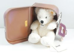 Steiff 111464 Original Teddybär Lotte mit Koffer KFS wie NEU OVP