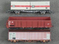 Klein Modellbahn Liliput Roco 3x Güterwagen 3163 24405 DB DC