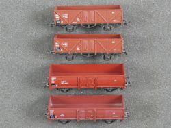Roco Konvolut 4x Offener Güterwagen 46010 4309 u.a. DB TOP!
