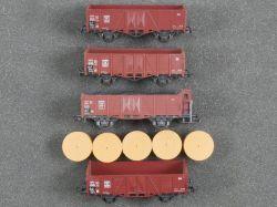 Roco Konvolut 4x Offener Güterwagen 46058 4390A DB TOP!