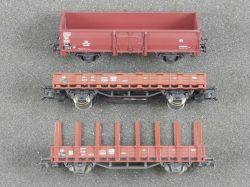 Roco Konvolut 3x Güterwagen Rungenwagen 46031 4302 DB TOP!