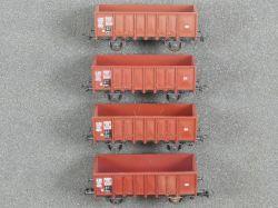 Roco Konvolut 4x Offener Güterwagen 4311 u.a. EUROP DC TOP!