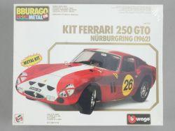 Bburago 7011 Ferrari Testa 250 GTO 1962 Metal Kit 1/18 NEU! OVP