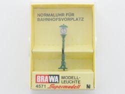 Brawa 4571 Normaluhr für Bahnhofsvorplatz Leuchte Spur N NEU OVP