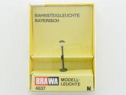 Brawa 4637 Bahnsteigleuchte Bayerisch Modellbahn Spur N NEU OVP