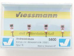 Viessmann 5800 Andreaskreuze mit Patentsteckfuß Spur N NEU OVP