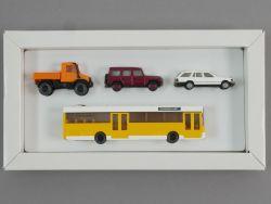 Wiking Mercedes-Set Unimog G-Klasse 190 E Bus O405 DB Lesen! OVP