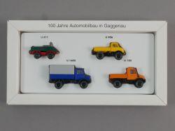 Wiking Mercedes Unimog Set 100 Jahre Automobilbau Gaggenau OVP