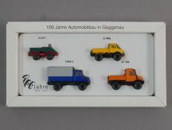 Wiking Mercedes Unimog Set 100 Jahre Automobilbau Gaggenau   OVP SG