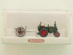 Wiking 8890231 Lanz Traktor Schlepprechen Fahrer 1:87! OVP