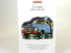 Wiking 9904455 Set 75 Jahre Opel Blitz Straub Bolle 1:87 NEU OVP