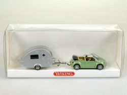 Wiking 0634036 New Beetle Wohnwagen-Ei T@B Tabbert 1:87 NEU! OVP