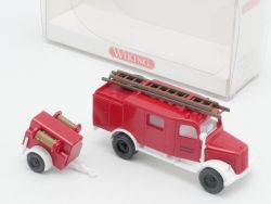 Wiking 8630123 Opel Blitz LF8 Freiwillige Feuerwehr Anhänger OVP