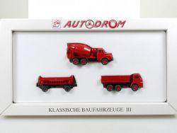 Wiking 99016 Autodrom Klassische Baufahrzeuge III 3 1/87 OVP