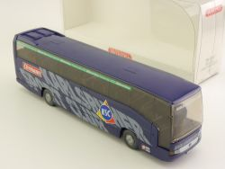 Wiking 7141040 MB O 404 RHD Reisebus Karlsruher Sport Club OVP