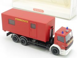 Wiking 6250138 MB Atego Feuerwehr Abrollbehälter Atemschutz  OVP