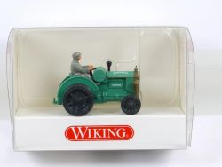 Wiking 8720127 Hanomag Schlepper Traktor grün 1:87 NEU OVP