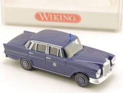 Wiking 8640629 MB Mercedes 220 S W 111 Polizei blau NEU! OVP