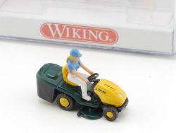 Wiking 3950126 MTD Aufsitzmäher mit Fahrerin 1:87 H0 NEU! OVP