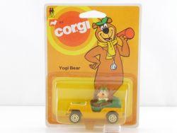 Corgi Junior 82 Yogi Bear yellow Auto Jeep Cartoon 1:66 MOC OVP SG