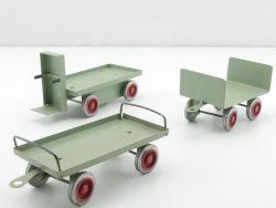 Monex DDR Gepäckwagen Elektrokarre Spur 0/1 Blechspielzeug selten AP