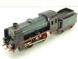 Märklin R 12910 el. Dampflok Spur 0 Tin Plate blau! selten!