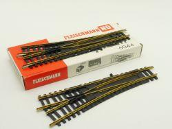 Fleischmann 6044 Weiche links rechts Paar Modellgleis H0 OVP