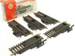 Fleischmann 6014 5x Entkupplungsgleis H0 Modellbahn TOP OVP ST