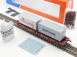 Roco 46378 Taschenwagen SeaLand Mitsui O.S.K. Lines DB NEU OVP MS