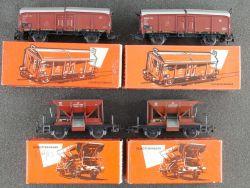 Märklin Konvolut 4x Güterwagen Schotterwagen 4610 4619 TOP! OVP