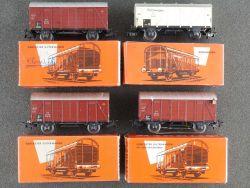 Märklin Konvolut 4x Gedeckter Güterwagen 4505 4506 4508 DB OVP