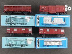 Märklin Konvolut 4x Güterwagen 4627 4693 4629 H0 AC Karton OVP