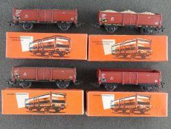 Märklin Konvolut 4x Offener Güterwagen 4602 4603 4604 um '60 OVP