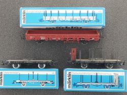 Märklin Konvolut 3x Güterwagen Rungen etc. 4684 4694 4697  OVP MS