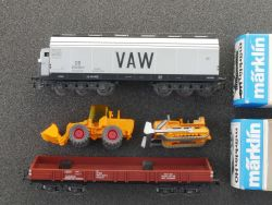 Liliput / Märklin Konvolut 2x Güterwagen VAW Bagger 1x AC 1x DC OVP MS