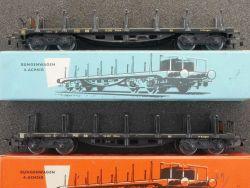 Märklin 4516 2x Rungenwagen SSka 1957/1967 800 Originalkarton OVP MS