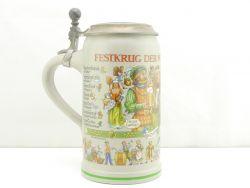 Oktoberfest Festkrug der Wiesnwirte 2016 Bierkrug Zinndeckel NEU AW