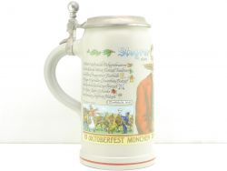 Oktoberfest Festkrug der Wiesnwirte 2014 Bierkrug Zinndeckel NEU AW