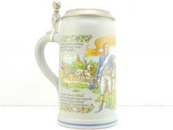 Oktoberfest Festkrug der Wiesnwirte 2015 Bierkrug Zinndeckel NEU AW