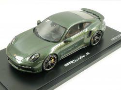 Porsche 911 992 Turbo S oakgreen Spark 1:18 Limited Edition OVP