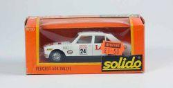 Solido No. 50 Peugeot 504 weiß Rallye Modellauto 1:43 OVP