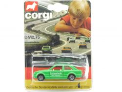 Corgi 211 Juniors Apex Ford Escort Fahrschule Card Karte Mint Model OVP
