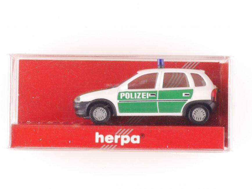 herpa 042291 opel corsa polizei modellauto augsburger. Black Bedroom Furniture Sets. Home Design Ideas