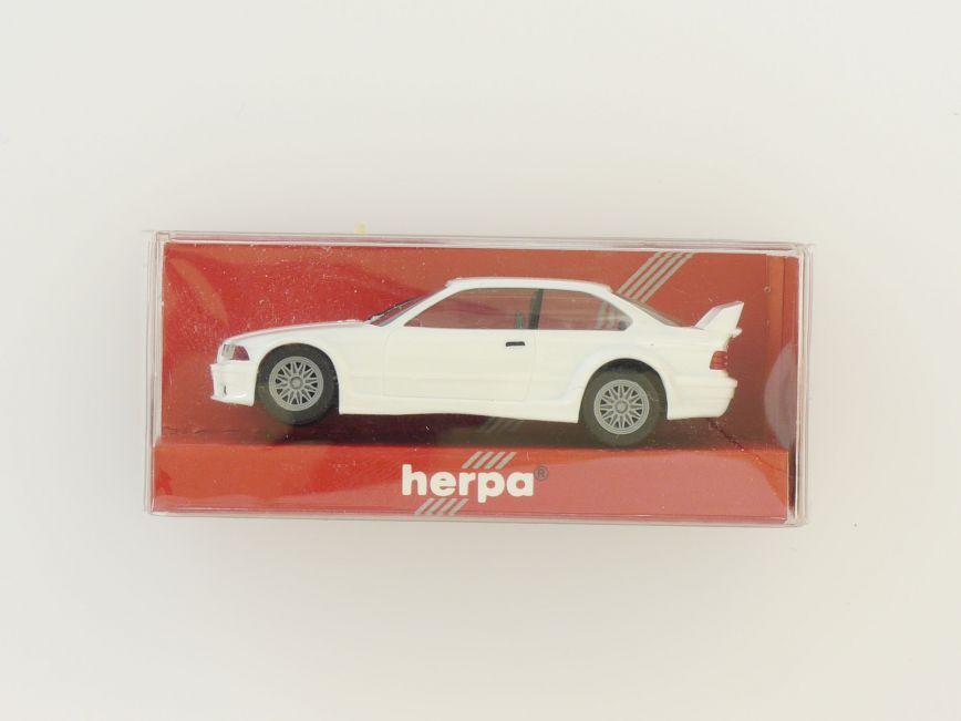 + 1//87 Herpa BMW M3 weiß mit Überrollbügel unbespielt