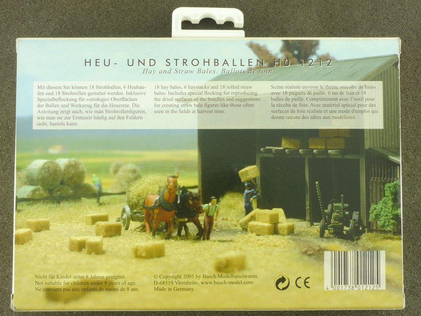 Busch 1212 Heuballen und Strohballen Set Strohaufen H0 Bausatz Neu